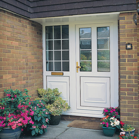 White pvcu door on a residential home