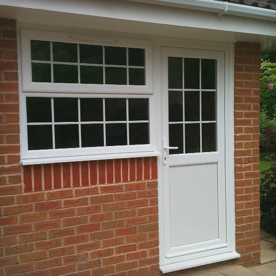 PVCu door and window installation completion