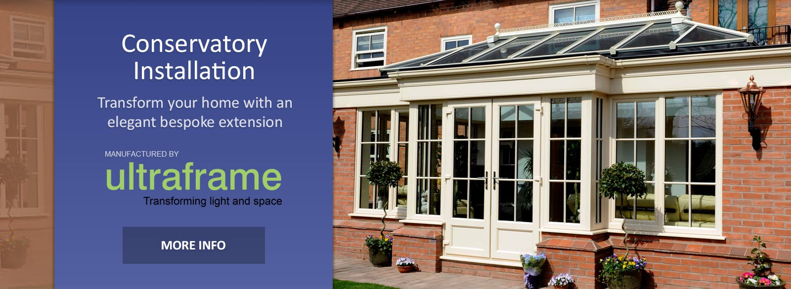 High quality modern brick conservatory